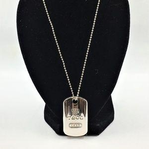 Tiffany & Co silver Dog Tag Silver Pendant